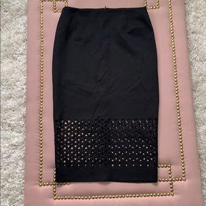 Sexy Eyelet Pencil Skirt
